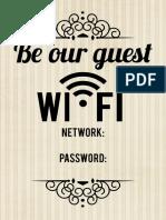 Wifi Notice 5x7 - Cream