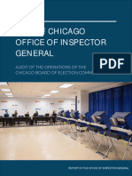 Audit of the Operations of the Chicago Board of Election Commissioners