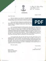 RK Goel Letter Dated 12 January 2018