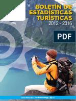 Boletin de Estadisticas Turisticas 2012 2016