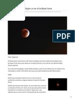 16-01-2019 - Invita Centro Ecológico a ver el eclipse lunar - elsoldehermosillo.com.mx