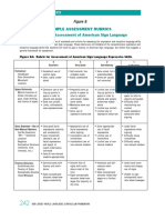Rubric for Assessment of American Sign Language Expressive & Receptive Skills