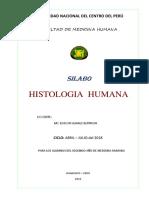 Silabo de Histologia 2018 i