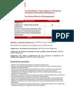 Plan de Estudios Master Negocios Internacionales Presencial y Online - Upf Barcelona School of Management 1