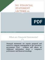 Preparing Financial Statement