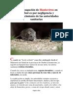 La Propagación de Hantavirus en Chubut, Argentina
