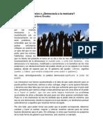 Democracia en México o Democracia a La Mexicana_Por Nancy Alejandra Gutiérrez González