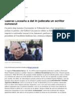 Gabriel Liiceanu a Dat in Judecata Un Scriitor Cunoscut