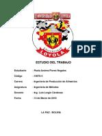 Proyecto Ciclo 1 Estudio Del Trabajo Responsable de Mantenimiento Vehicular