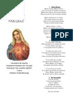 Cantos Acto Mariano