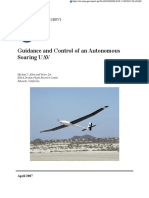 Guidance and Control of an Autonomous Soaring UAV