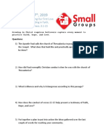 Small Group Question 1.26.19