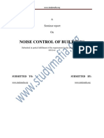 Civil Noise Control of Buildings Report
