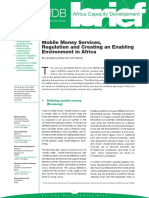 Economic Brief - Mobile Money Services Regulation and Creating an Enabling Environment in Africa