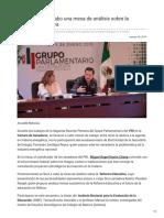 28/Enero/2018 El GPPRI lleva acabo una mesa de análisis sobre la Reforma Educativa