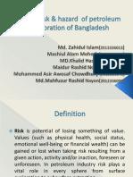 Major risk & hazard  of petroleum exploration of BD