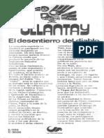 Ollantay Desentierro Del Diablo