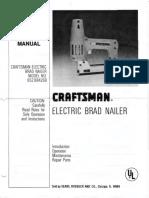 Craftsman Electric Brad Nailer_652.684260_Owners Manual - April 1978