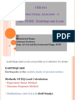 Earthquake Load Calculation