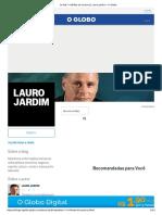 Os R$ 7 milhões do Queiroz _ Lauro Jardim - O Globo