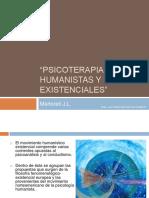 Psicoterapias Humanistas y Existenciales