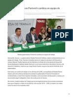 21-01-2019 Realiza Gobernadora Pavlovich Cambios en Equipo de Trabajo - Opinión Sonora