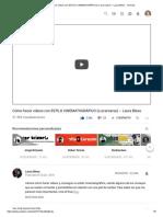 Cómo hacer vídeos con ESTILO CINEMATOGRÁFICO (o acercarse) ∼ Laura Blesa - YouTube