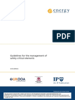 Guidelines for the Management of Safety Critical Elements