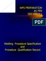 WPS,PQR as Per 15614 Railway Welds