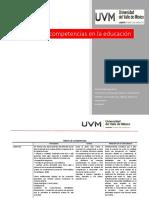MATRIZ COMPETENCIAS EN EDUCACIÓN