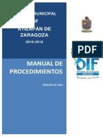 Manual de Procedimientos Arqueo de Caja
