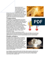 Calor, Temperatura y Bomba Atomica