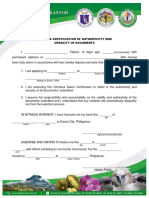 Omnibus Sworn Certification