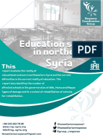 Education Sector in the North of Syria (Statistics and Damages)