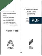 Dominguez-Monedero - La Polis y La Expansion Colonial Girga - Caps. 3-4-5