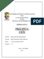 Tarea Hidrologia No3 -Diego Sebastian Roldsn Iñiguez-paralelo A