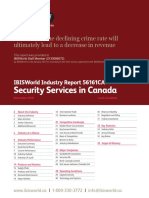 Security Services in Canada Industry Report