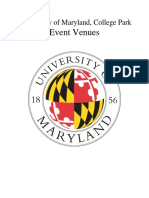 University of Maryland Event Venues 2018-2019
