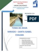 TOMA DE AGUA MIRADO - SANTA ISABEL CHALMA