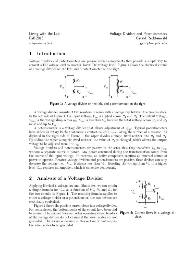 Simple Potentiometer Circuit Sensor Design