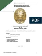 Investigaciòn de Operaciones 2018 -1