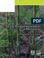Monografía. de Las Plantas Medicinales de Michoacán. I. Hierbas y Bejucos Nativos
