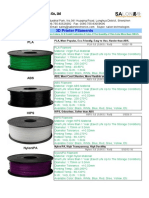 Anet 3D Printer Filaments Price List_3