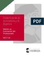 Didactica de La Aritmetica y El Algebra