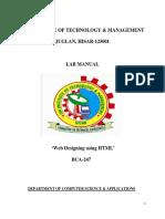 web designing Lab Manual