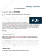 Cáncer de Estómago - Trastornos Gastrointestinales - Manual MSD Versión Para Profesionales