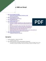 Recursos Para VBA en Excel