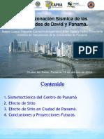 Microzonacion Sismica de Ciudad de Panama 2014 Final