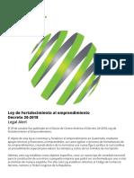 Explicacion Decreto 20-2018 Ley de Emprendimiento (J.L)