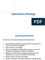 Lecture 2- Operations Strategy(s)